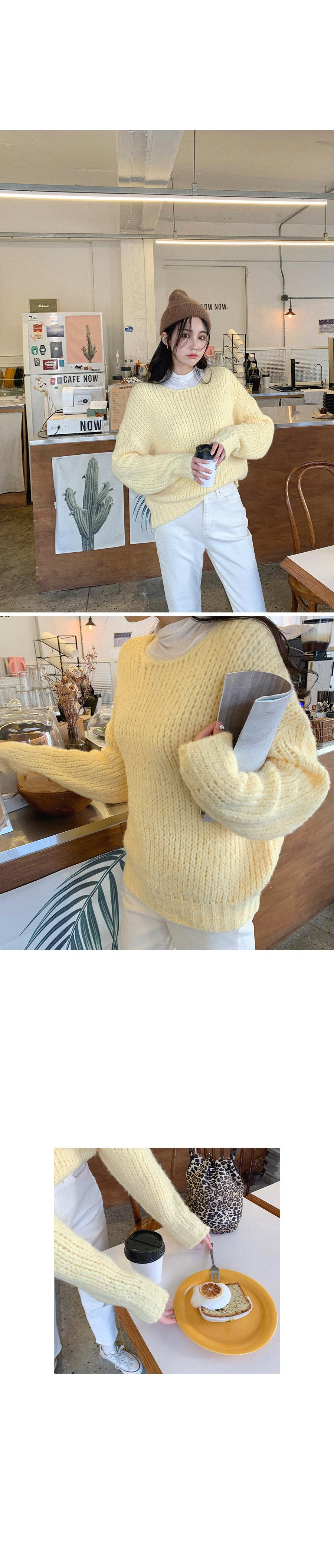 Cotton Candy Lemon Loose Fit Knit