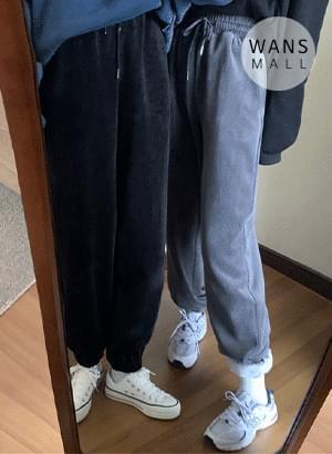 pt3525 friend velvet jogger pants 長褲
