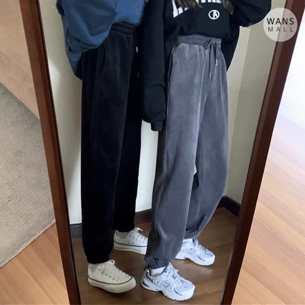 pt3525 friend velvet jogger pants