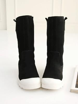 Suchea leather middle boots 3cm