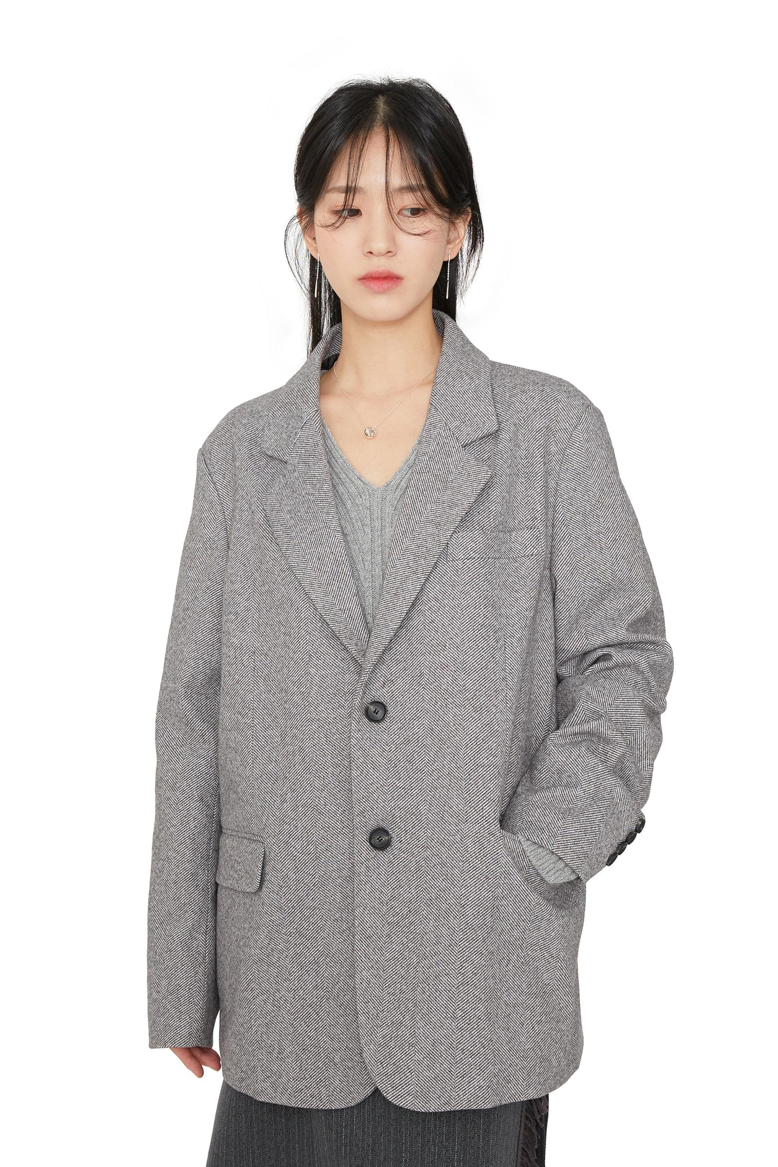 Mentor herringbone unisex wool blazer