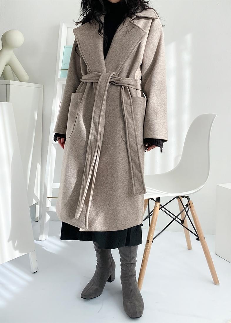Milk Strap Open Long Coat