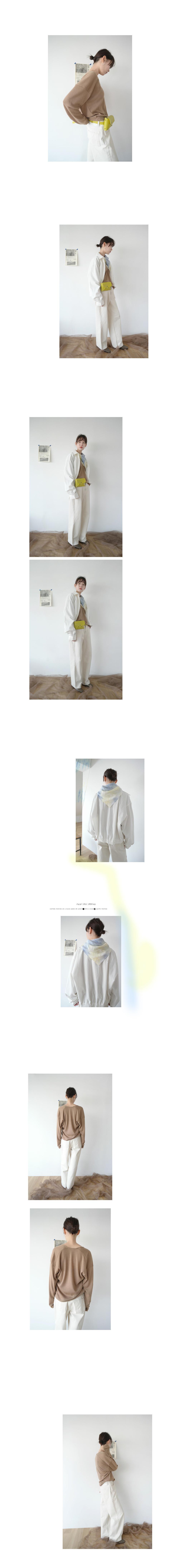 side dart cotton pants