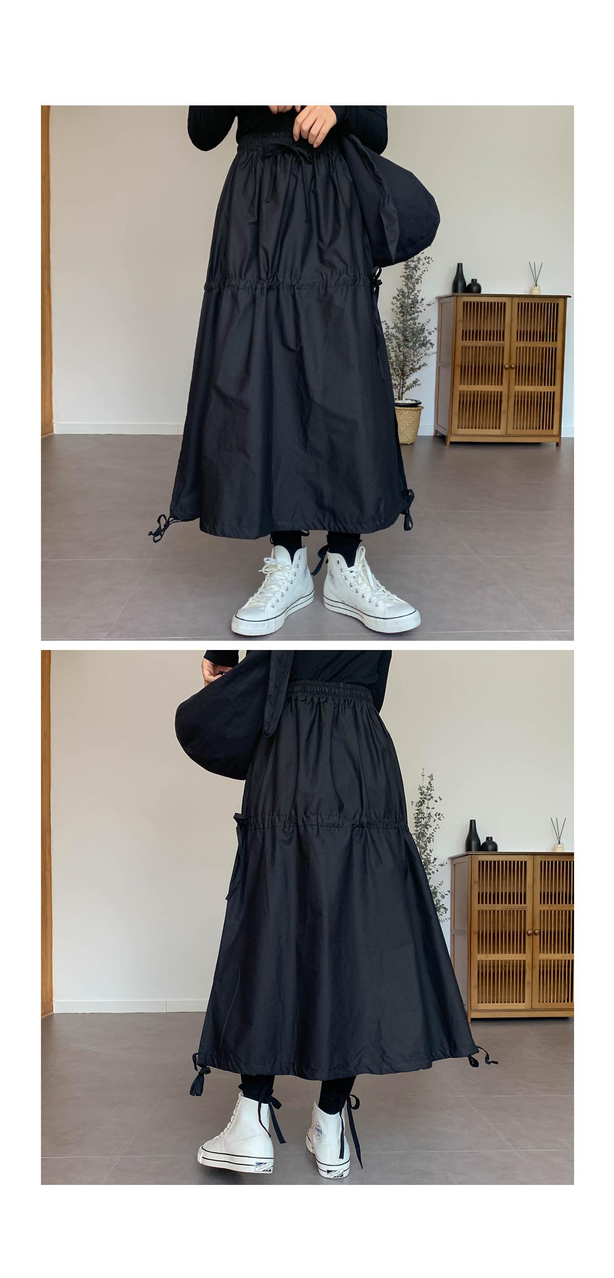 String ever long skirt