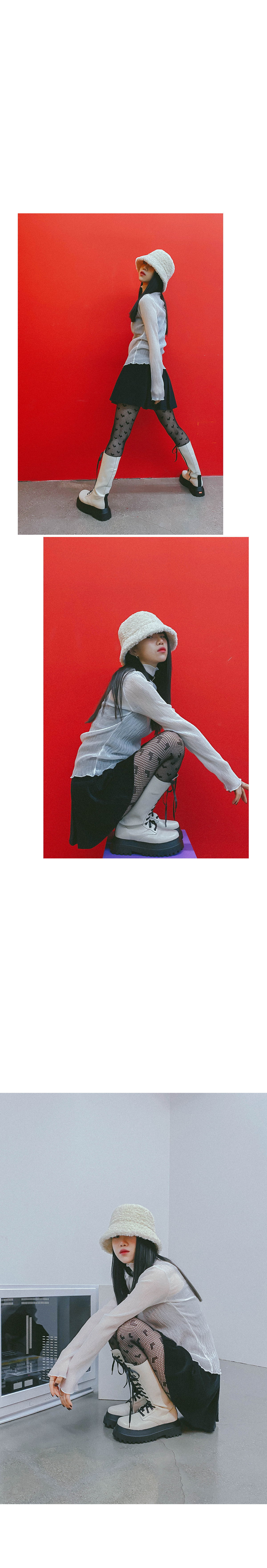 Sheer Kiko Turtleneck blouse