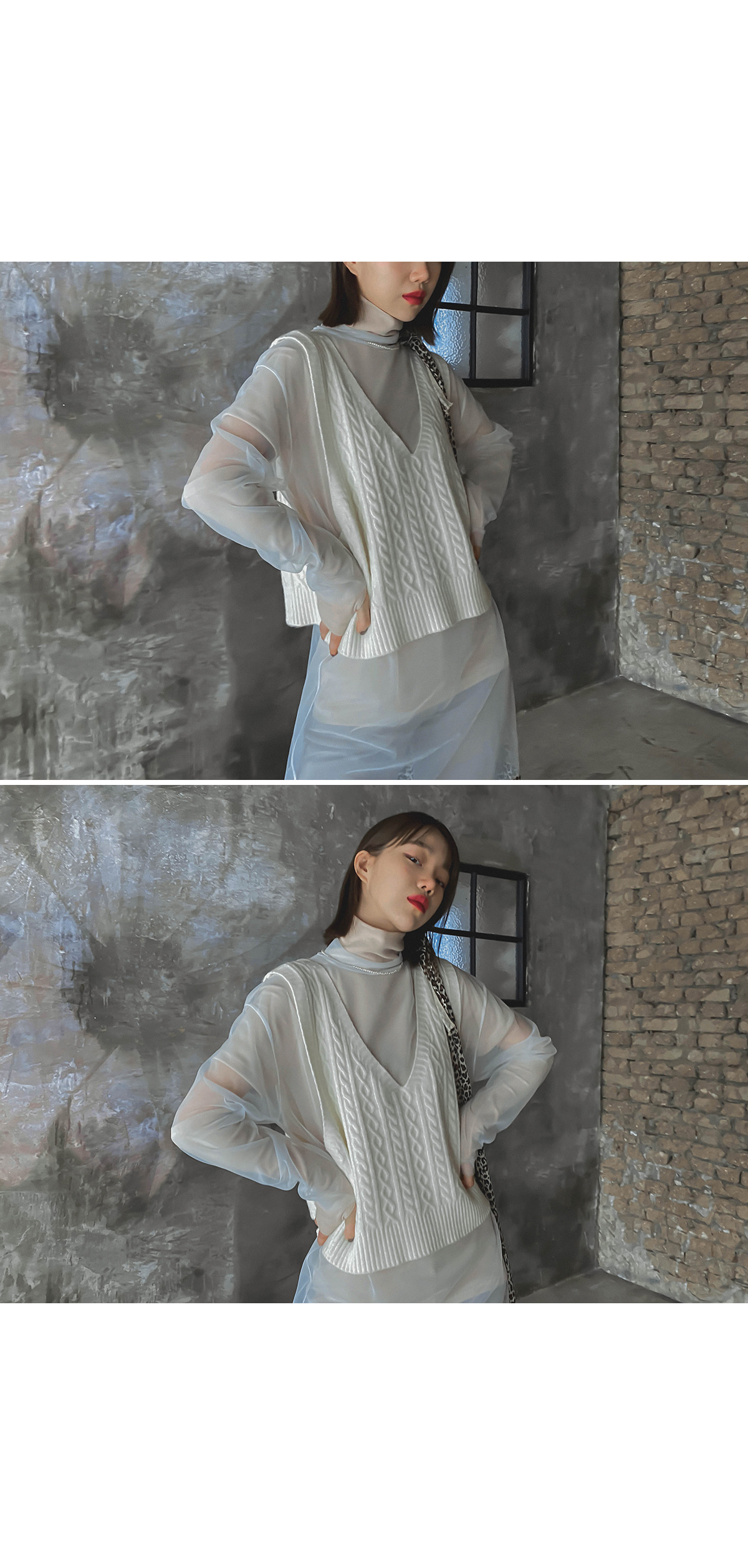 See-through Formal Loose Fit T-shirt