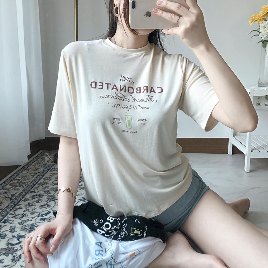 Freejay Juicy Tencel Short Sleeve T-Shirt 4colors