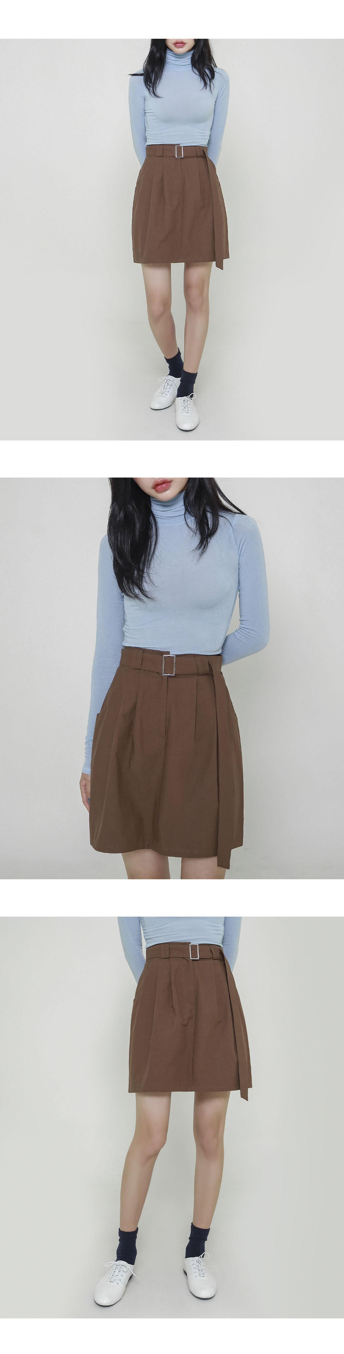 Robin belted skirt
