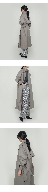 Blanc trench coat