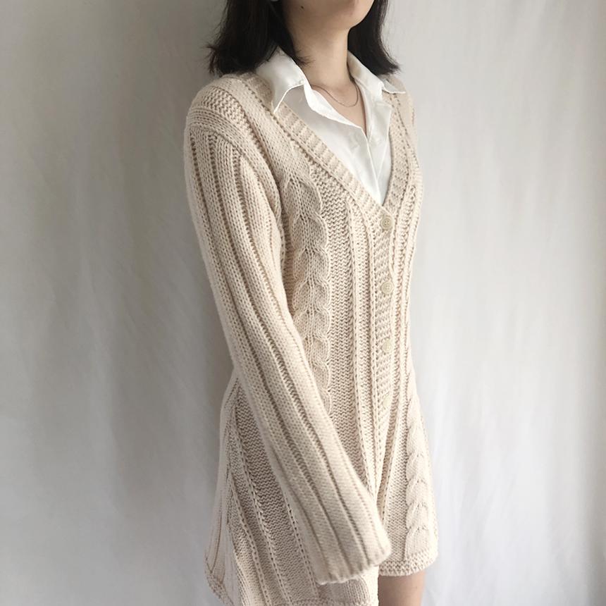 FreeJ V-neck knit dress