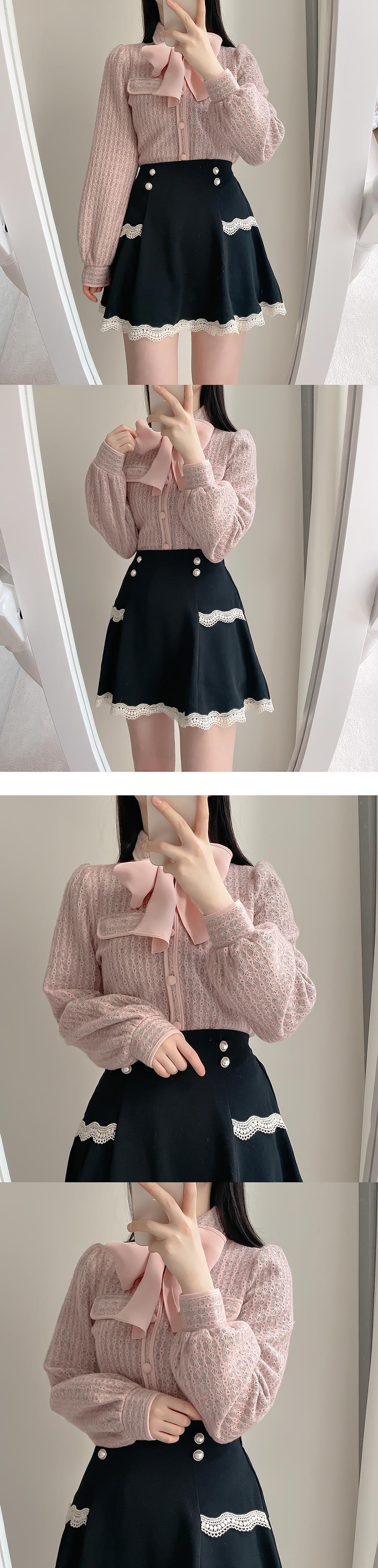 Cozy Lace Skirt Pants-One Color