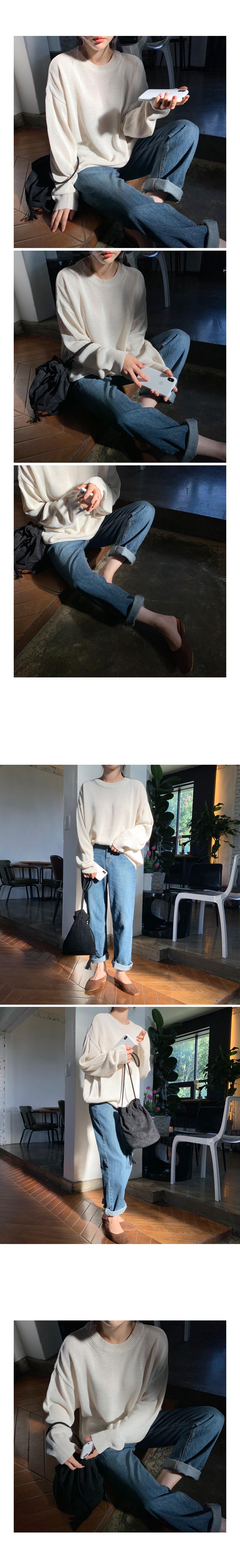 Tam Tam Loose-fit Round Knitwear - Pink, Black