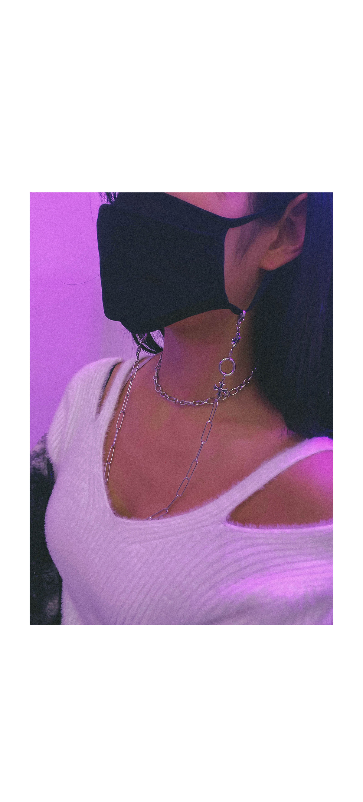 Surgical Steel Teeth - Necklace & Mask Band