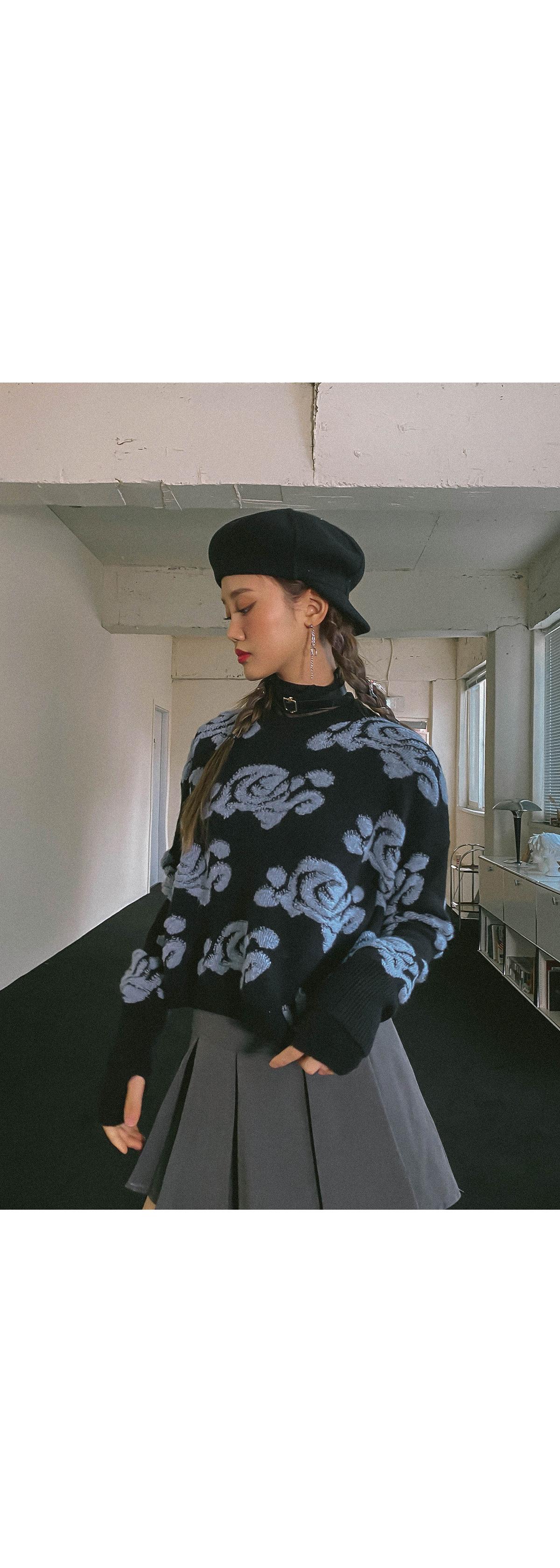 Flower Angora Knit