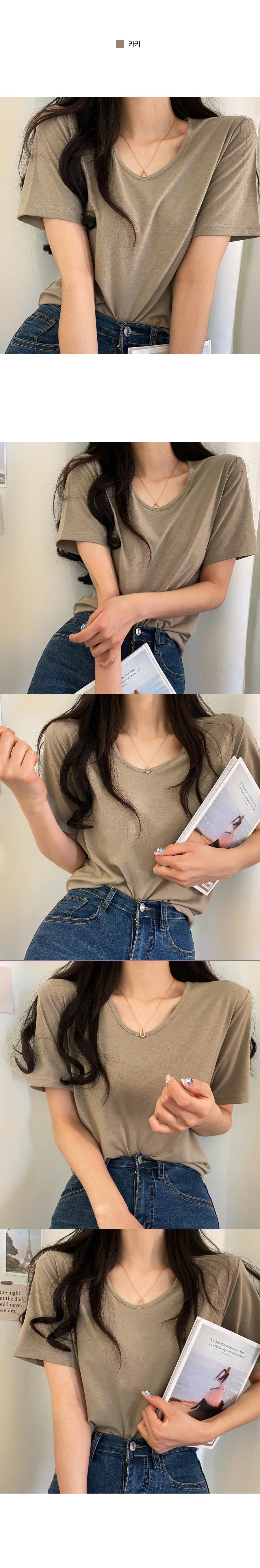 High-quality 12-color V-neck short-sleeved T-shirt