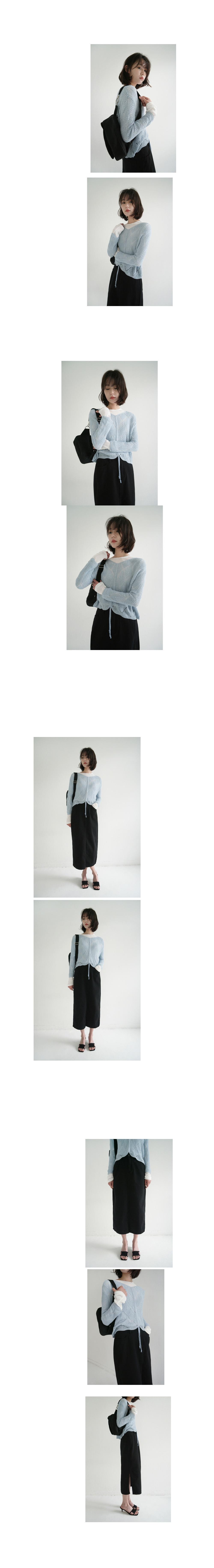 black side slit skirt