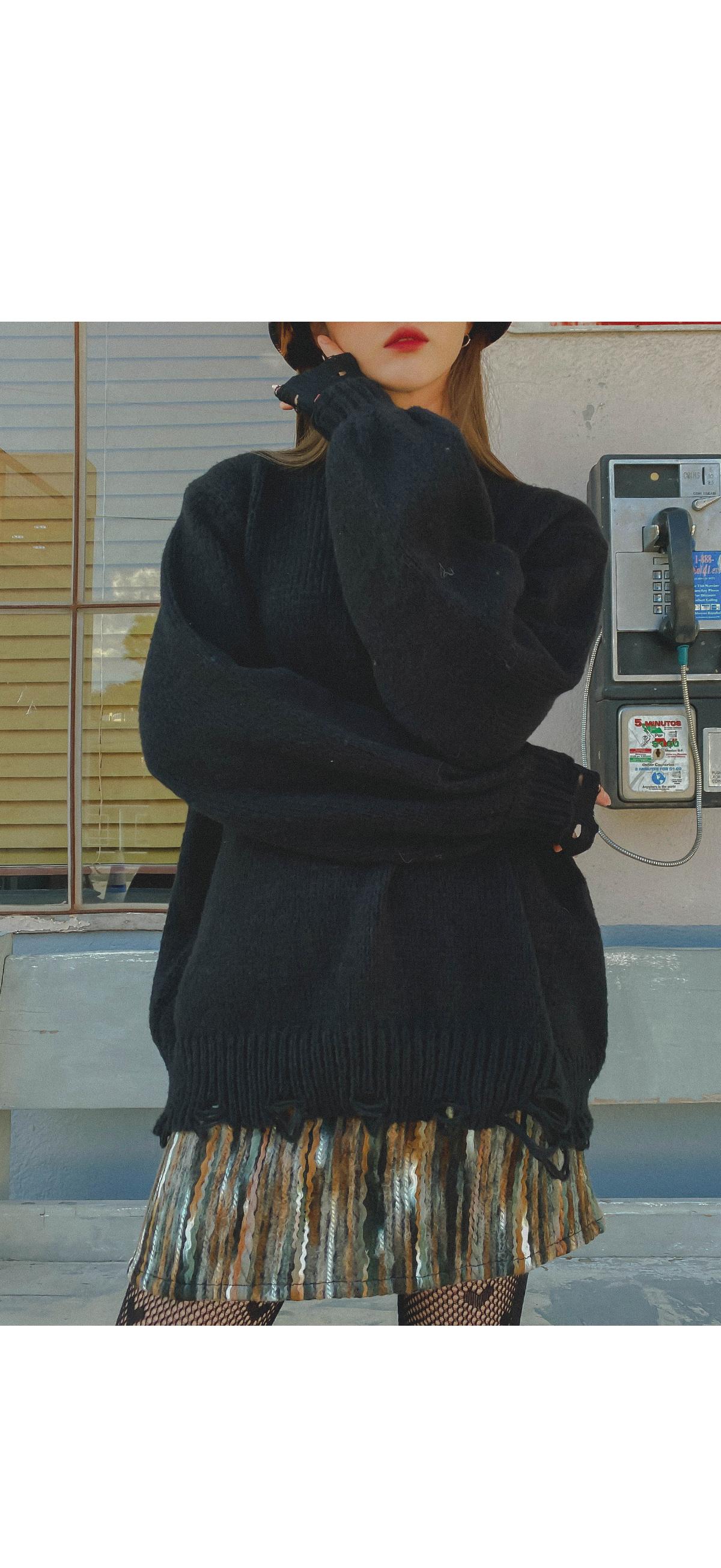 Damage Mou Knit