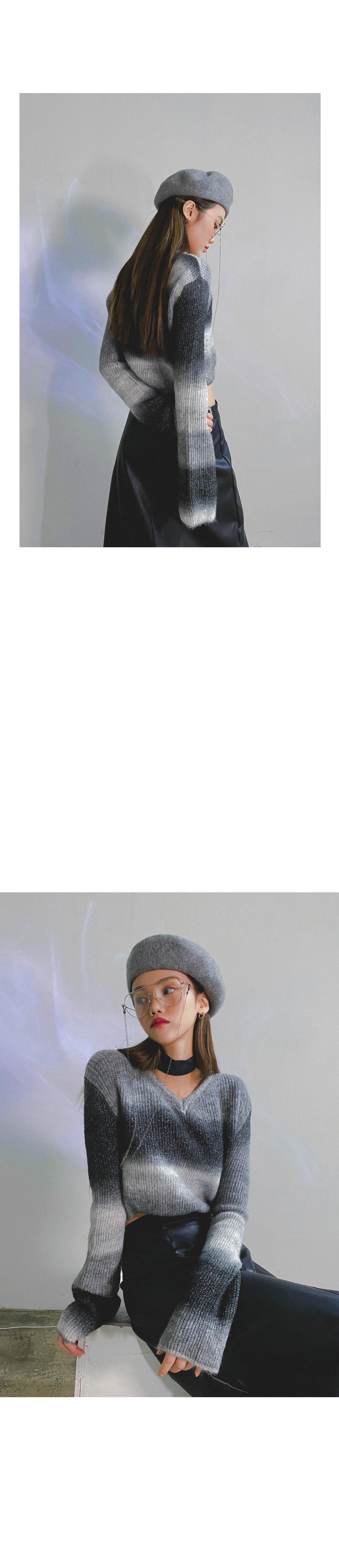 그라데이션 세드 크롭니트