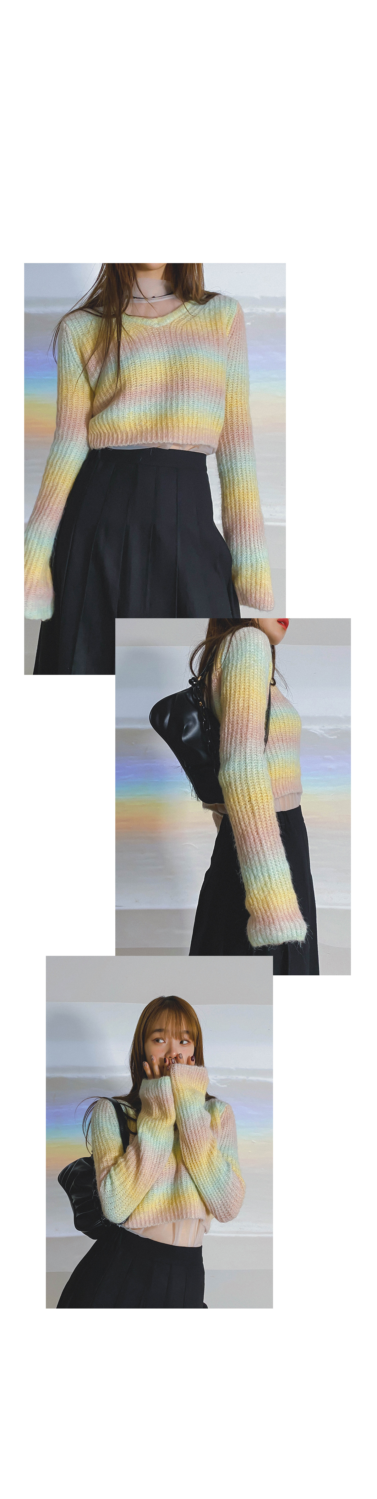 Gradient Sed Crop Knit