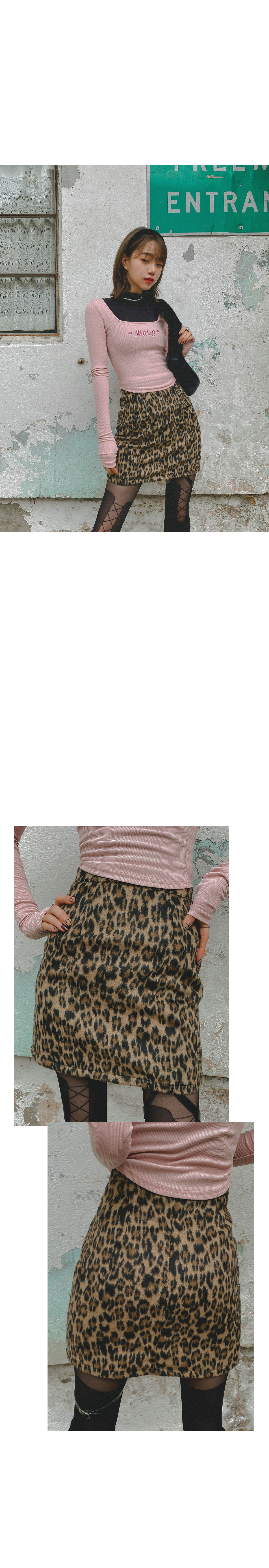 Leopard tanger mini skirt