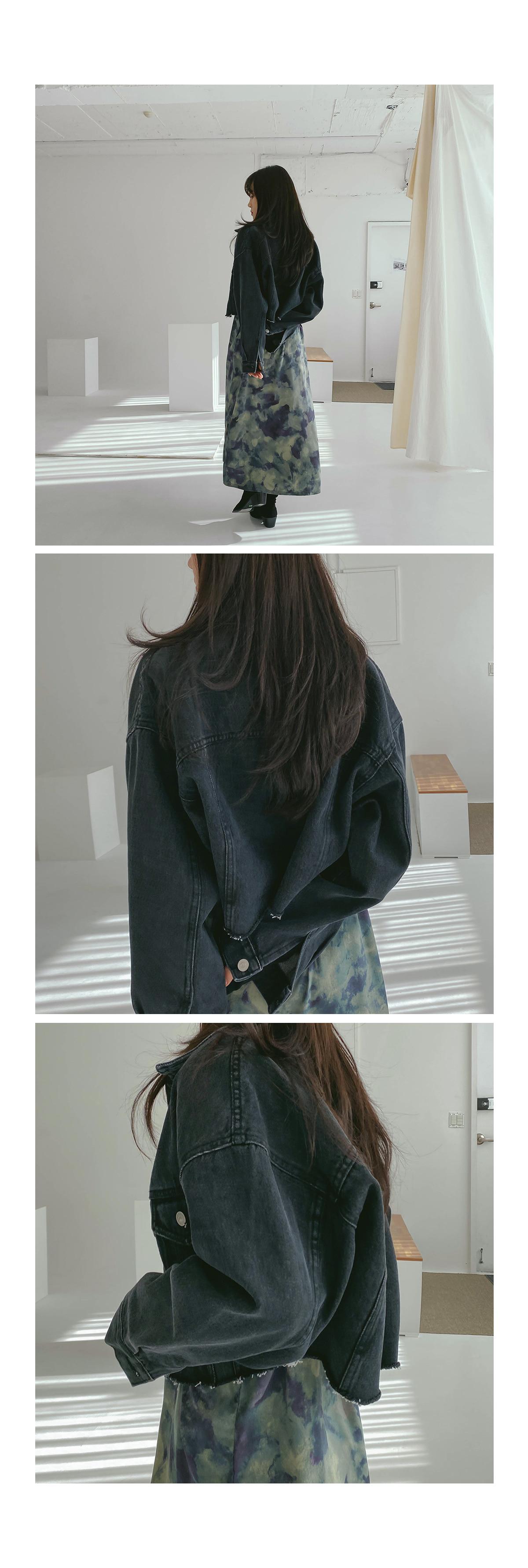 Cutting Crop Mael Denim Jacket