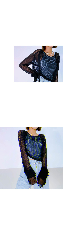 See-through Lumin Shirring Knit
