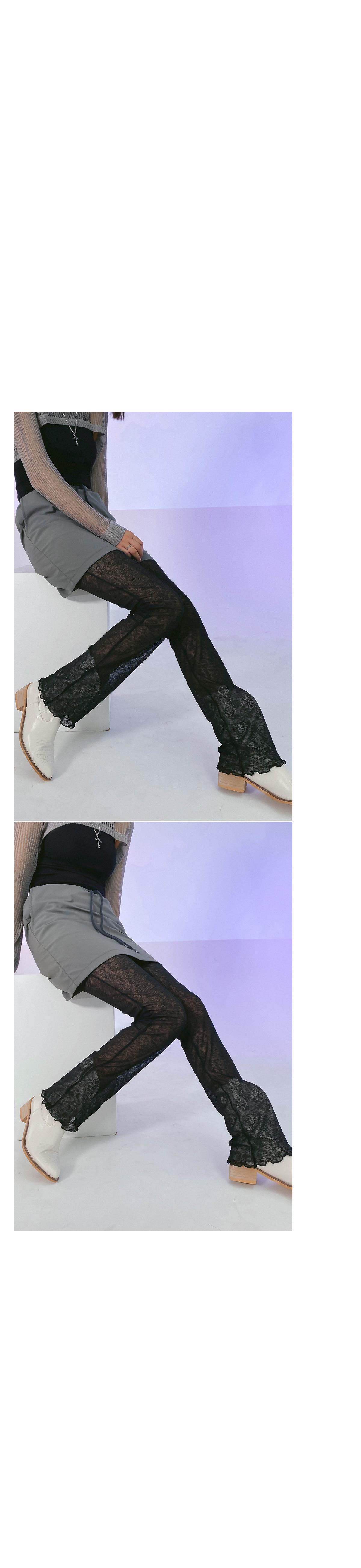 Layered see-through pants