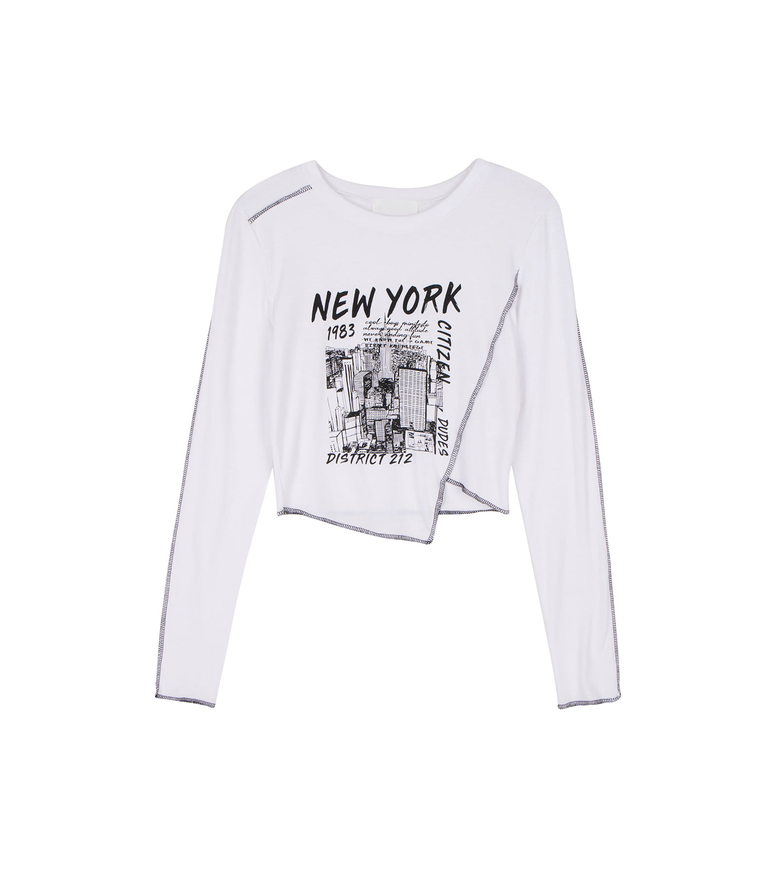 New York Unbal Long Sleeve T-shirt