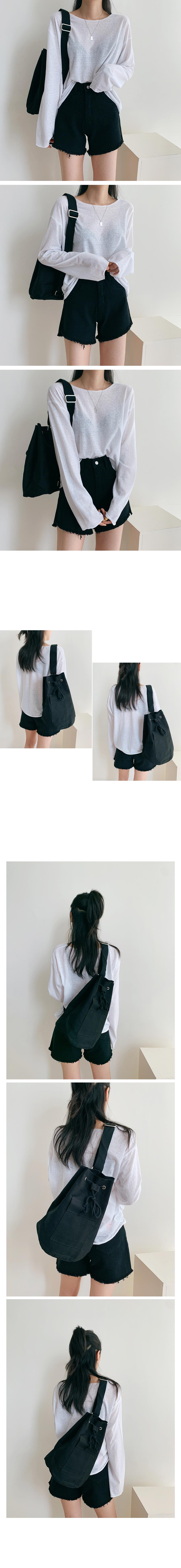 Cotton pocket shoulder bag