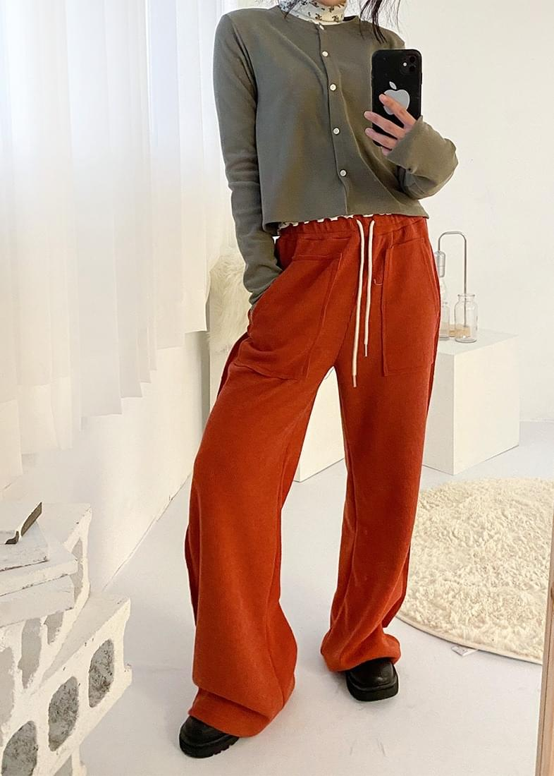 Peter pocket banding wide pants