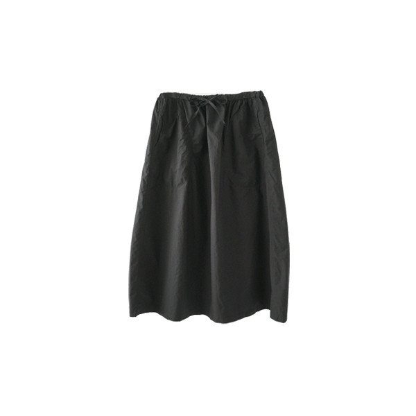 rustle texture cotton skirt