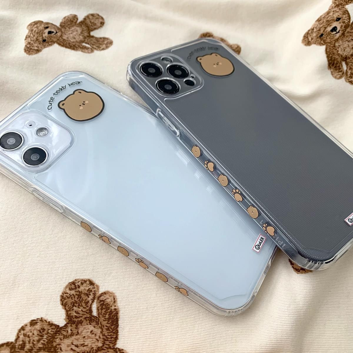 Cutie Teddy Bear Full Cover iPhone Case 手機殼