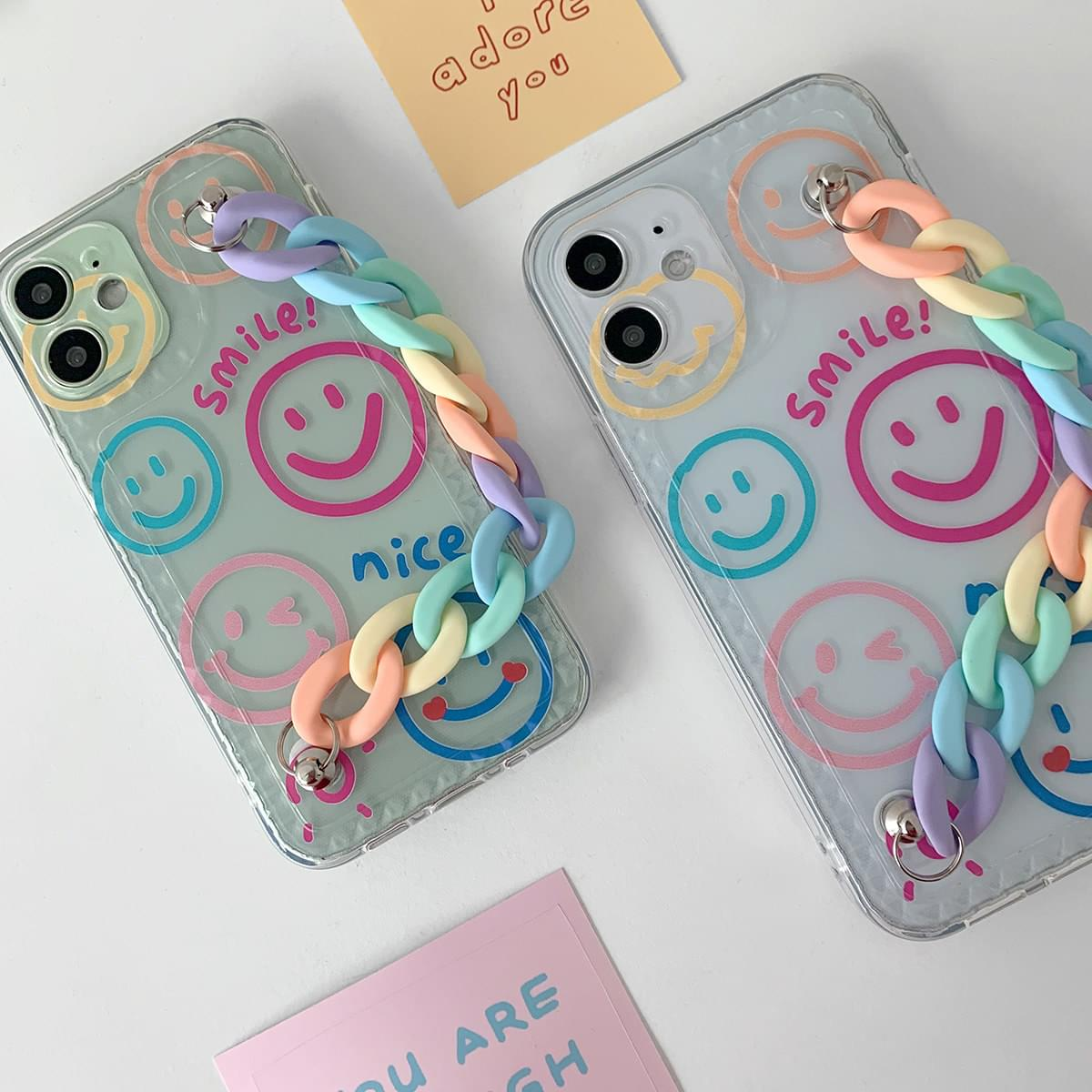 Pastel Candy Chain Smile iPhone Case