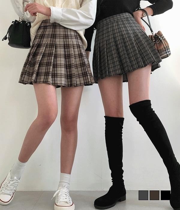 Ceci check tennis skirt