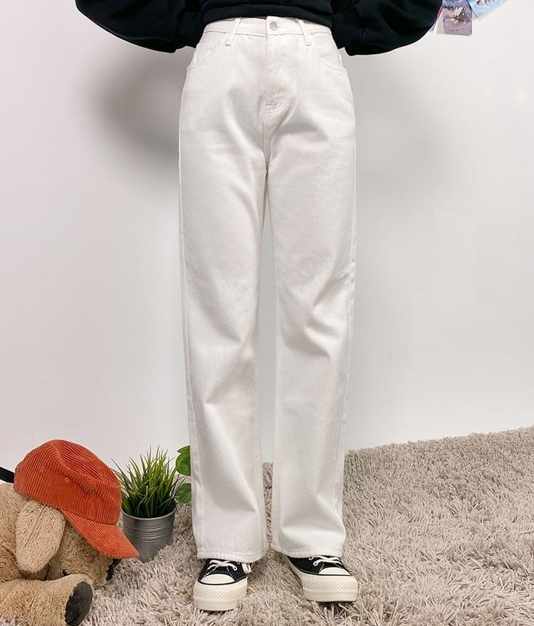 Straight Cut Fleece-Lined Pants