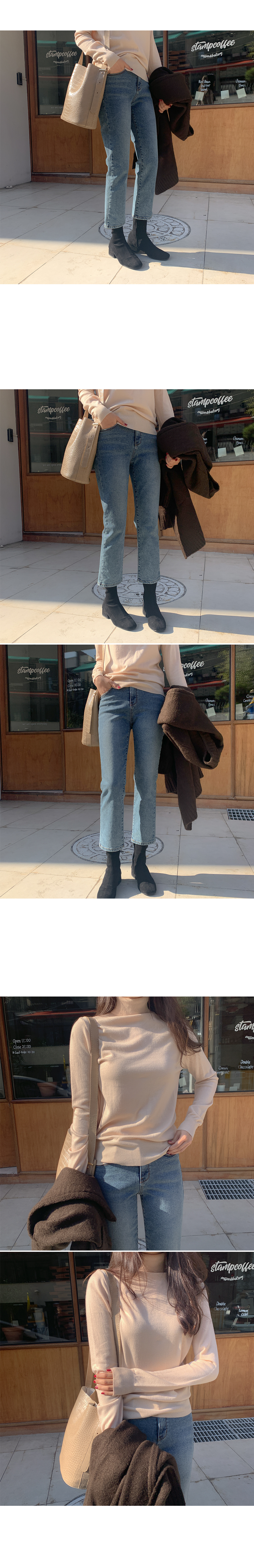 Cardi Fleece-lined denim pants