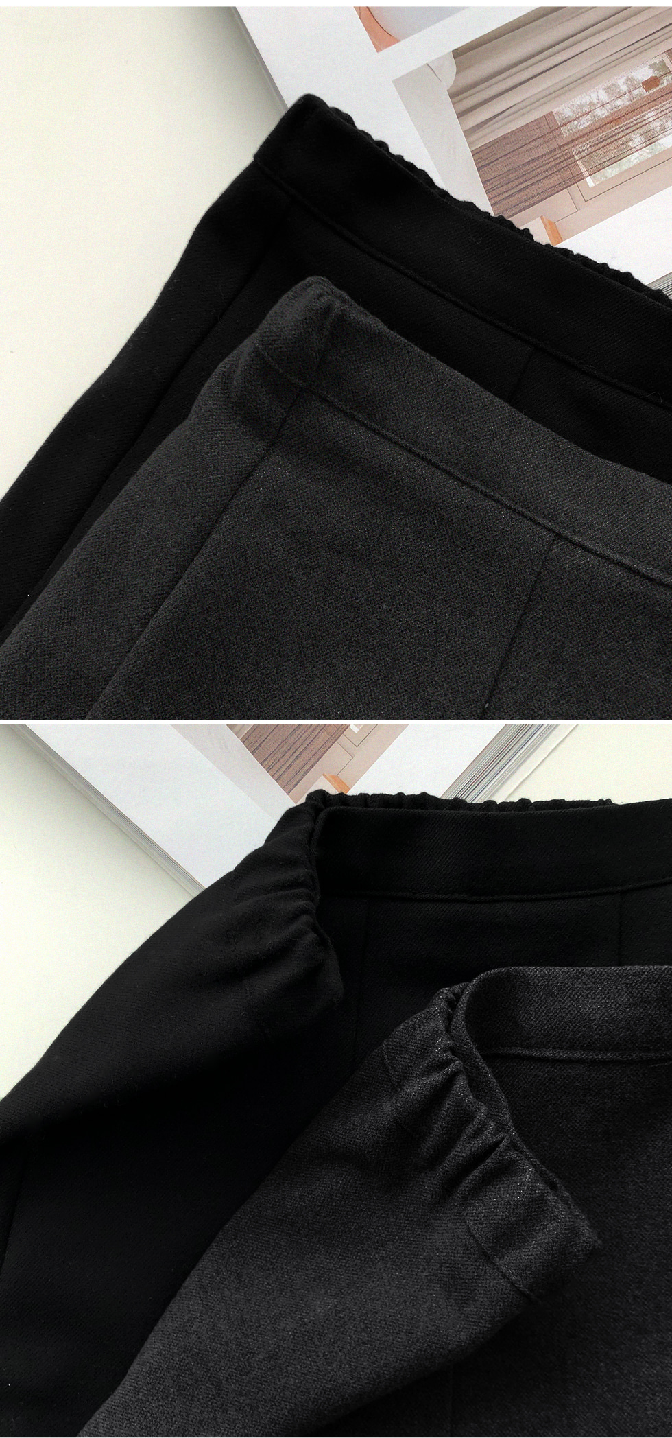 Denri pleats long skirt