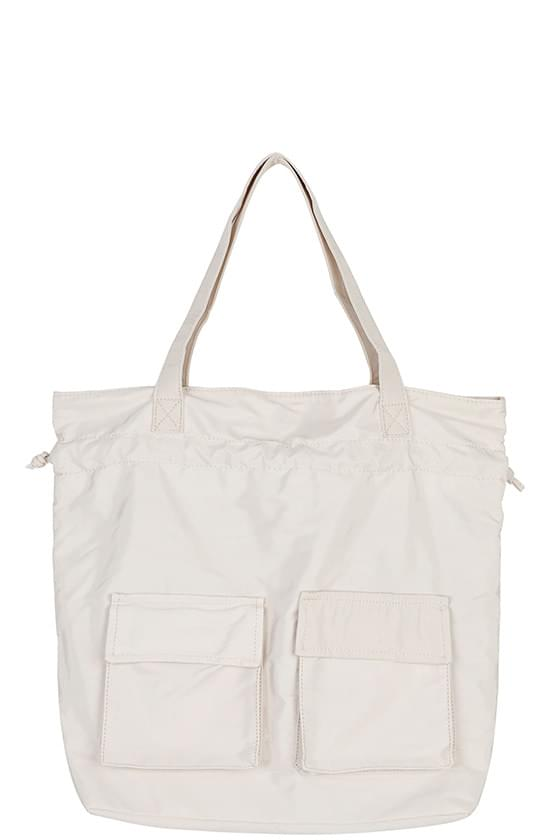 Two pocket string two-way backpack 後背包