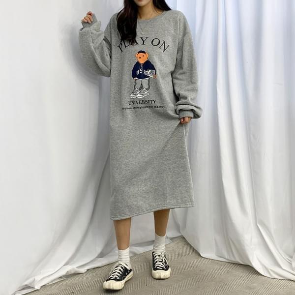 Play Bear Fleece-lined Split Dress