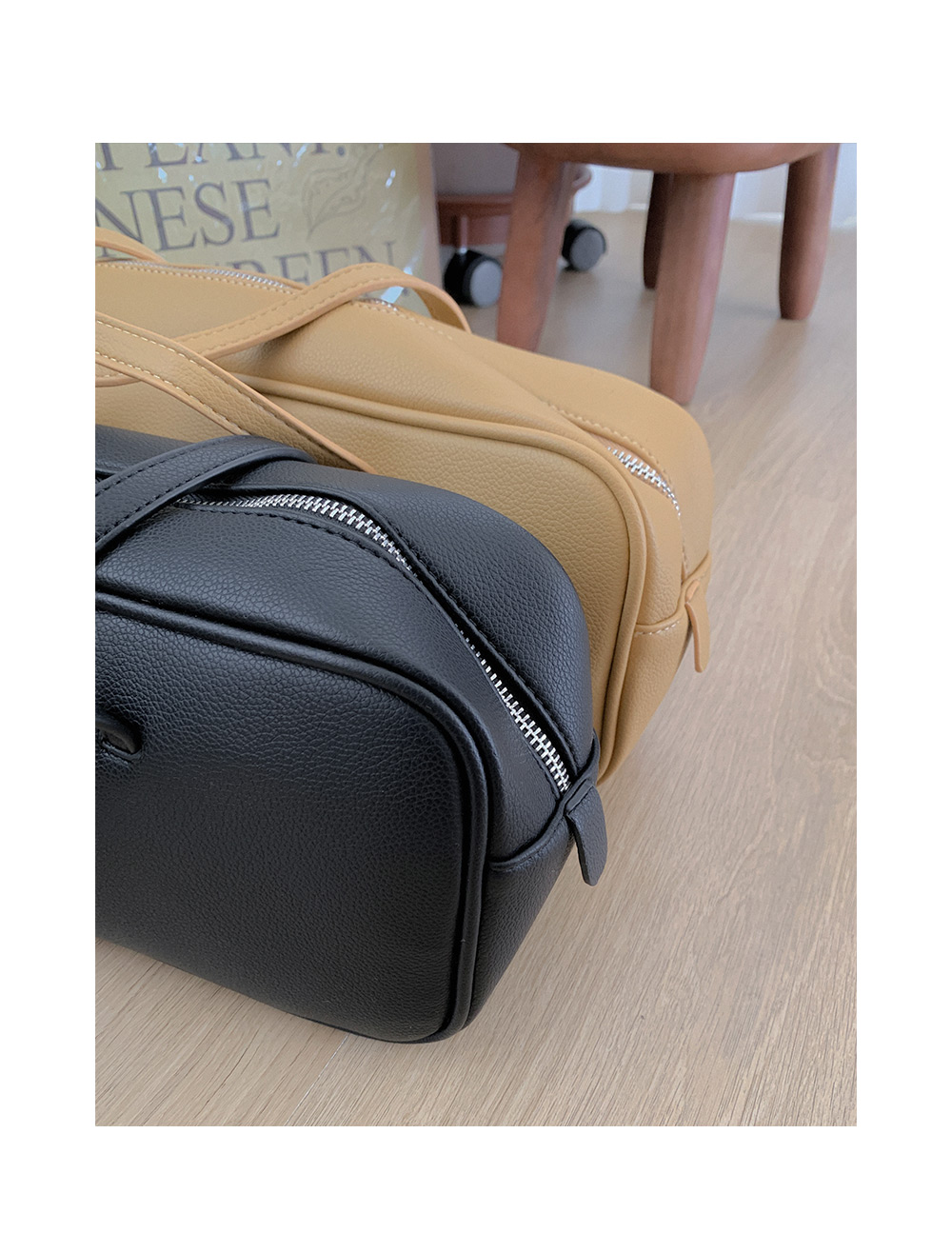 Rib square shoulder bag