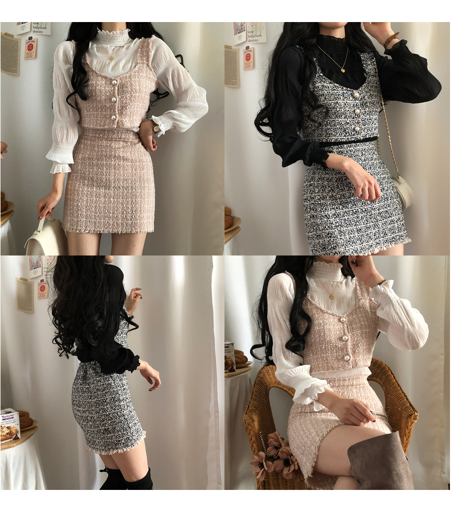 Main character bustier + skirt two-piece set