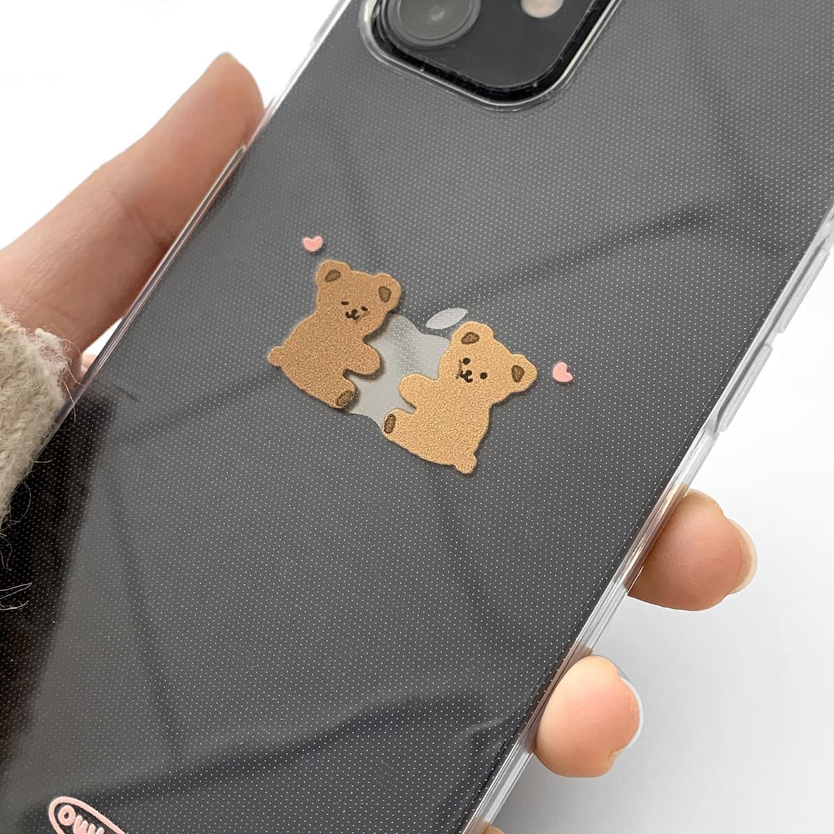 Hug Me Bear Apple Logo Design iPhone Case 手機殼