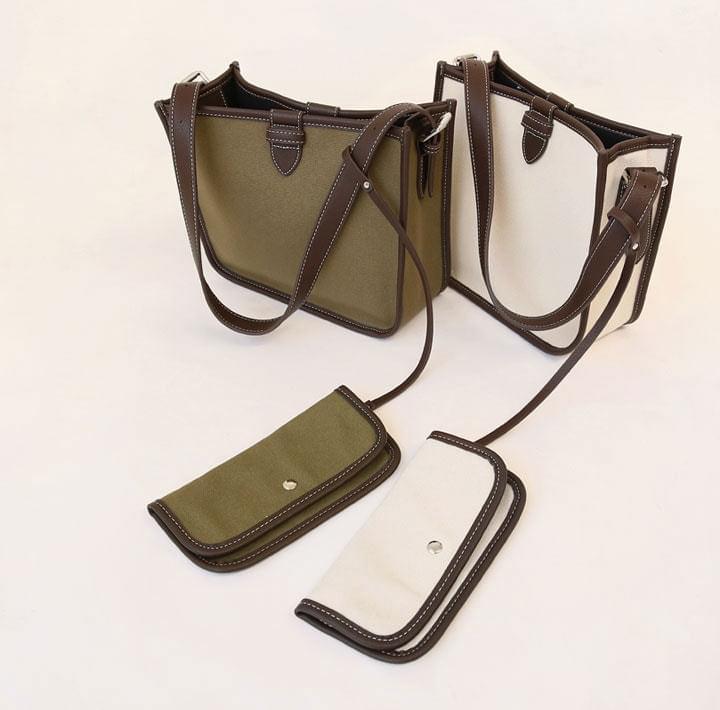 Contrast Edge Shoulder Bag