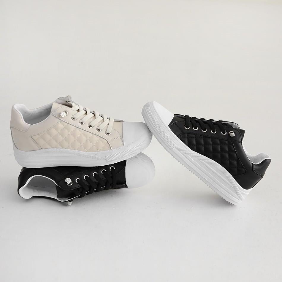 Cherrobe Leather Qualting Sneakers 3cm