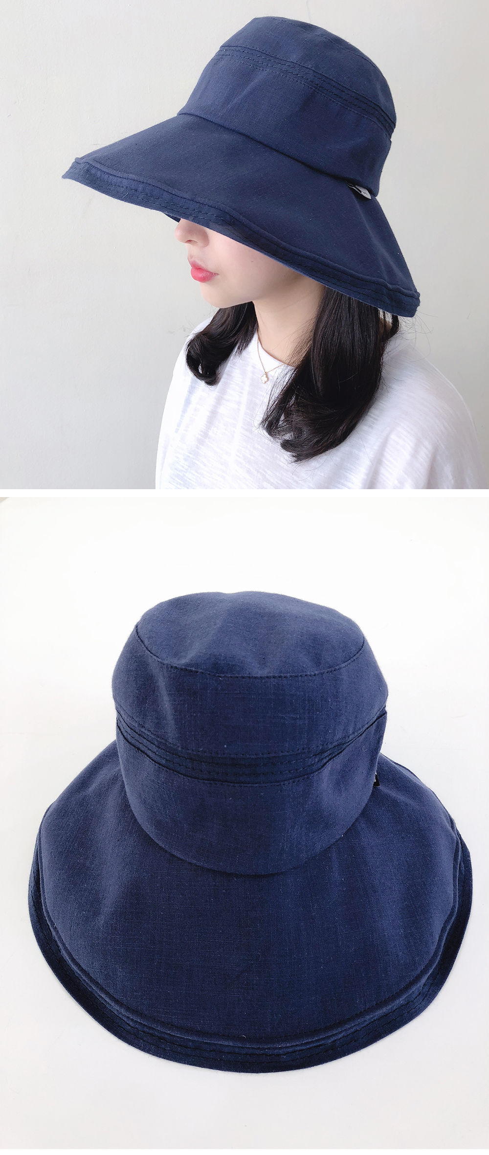 Back Button Bungee Oversized Bucket Hat H#YW005
