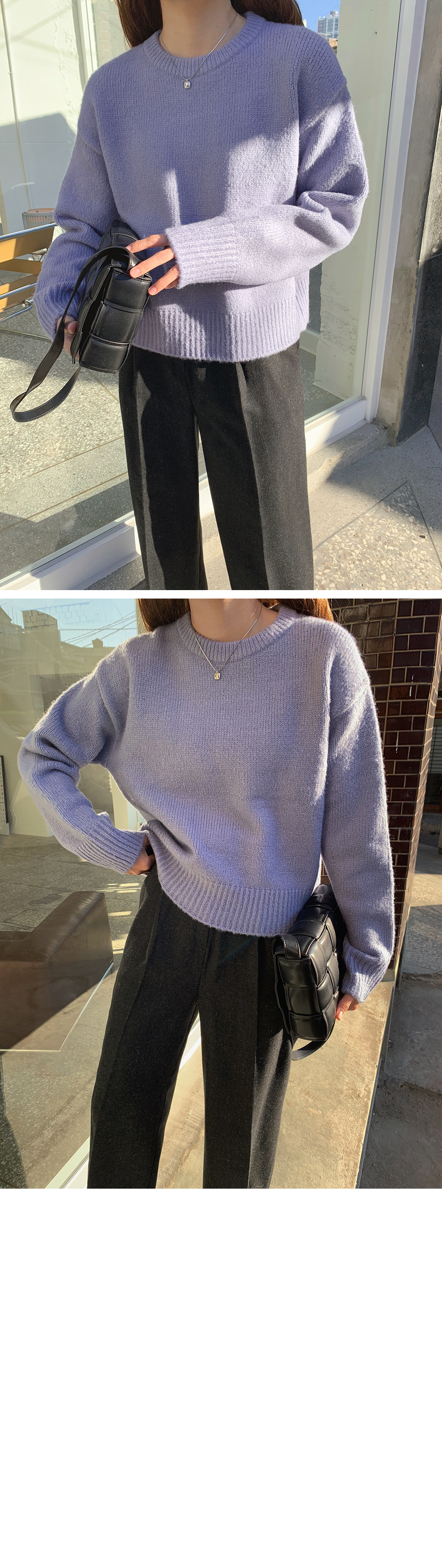 Palette color round knit