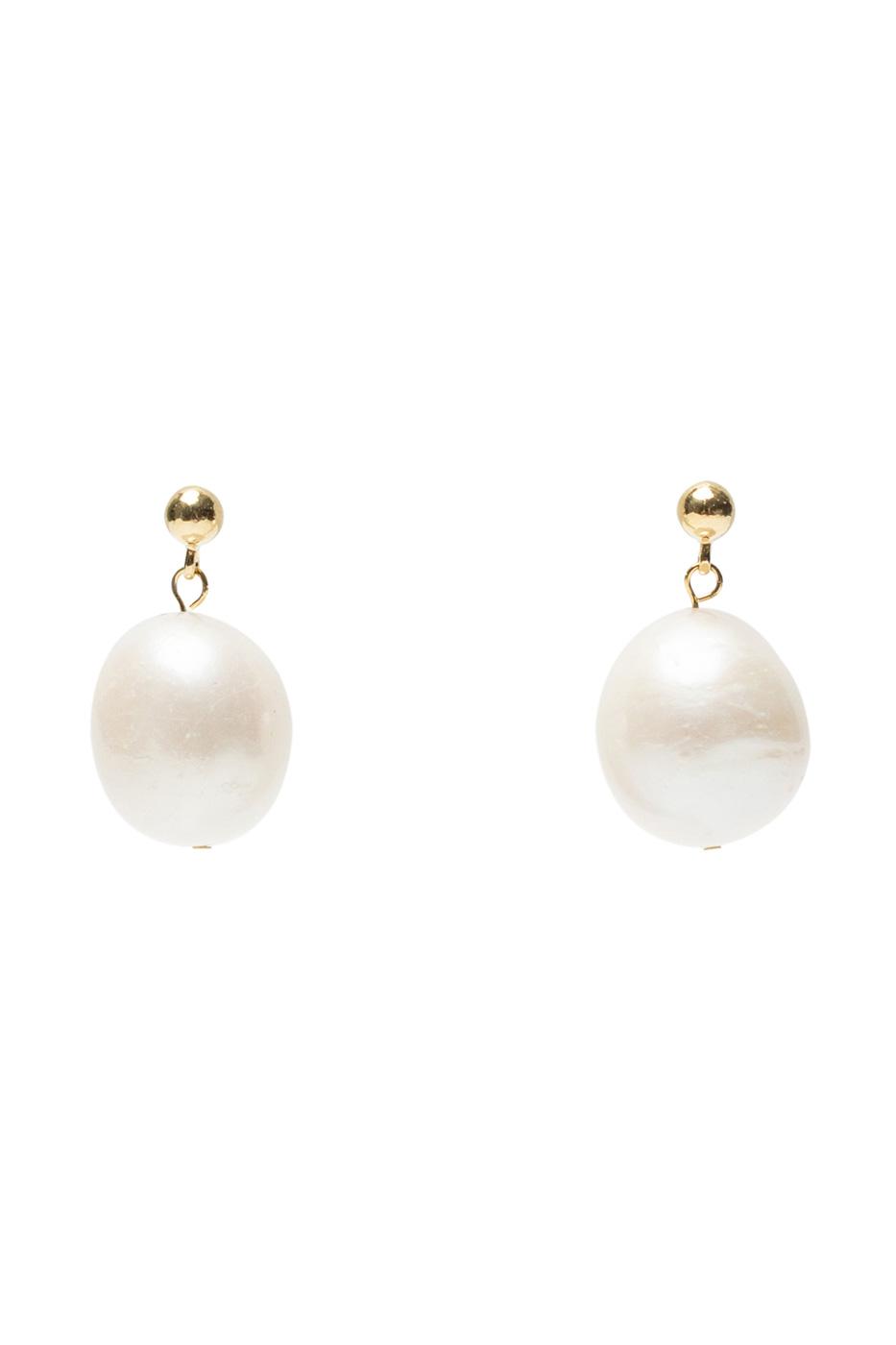 Angel big pearl earrings