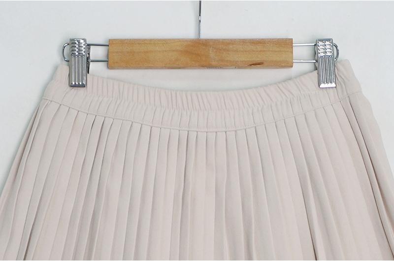 Jallang banding pleated skirt