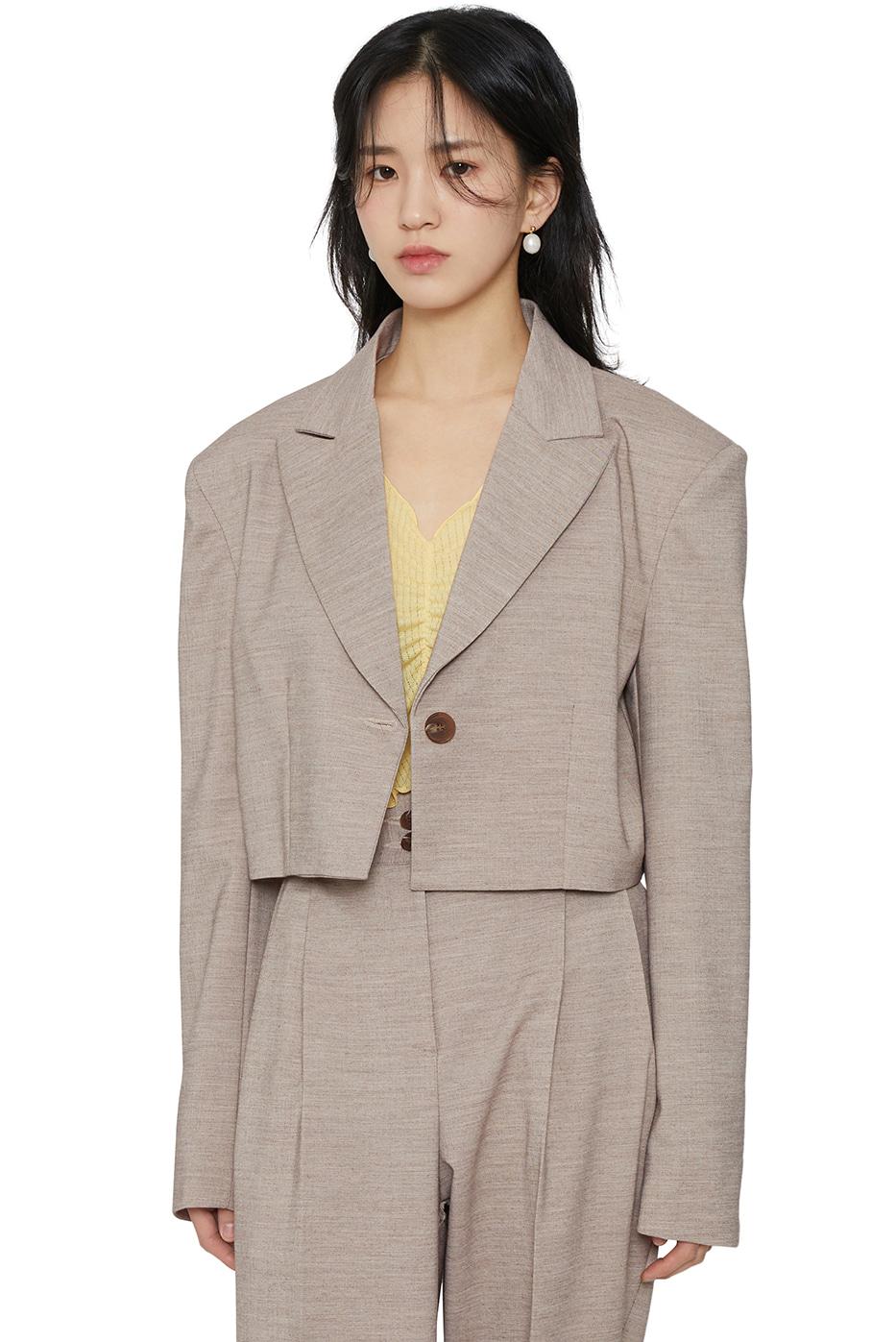 Gauge cropped jacket