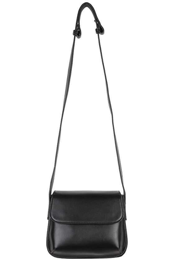 Below simple square shoulder bag